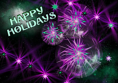Digital Art - Happy Holidays by EricaMaxine  Weiner
