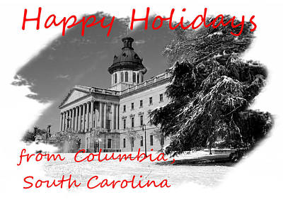 Photograph - Happy Holidays From Columbia Sc by Joseph C Hinson Photography