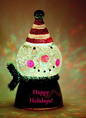 Christmas Photograph - Happy Holidays Glow by Rosanne Jordan