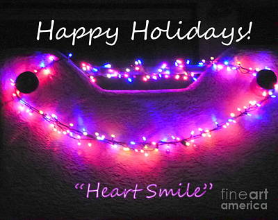 Photograph - Happy Holidays Heart Smile by Marlene Rose Besso