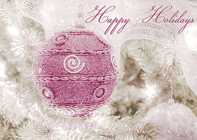 Photograph - Happy Holidays In Pink And White by Julie Palencia