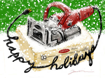Painting - Happy Holidays Lamello by Jean Pacheco Ravinski