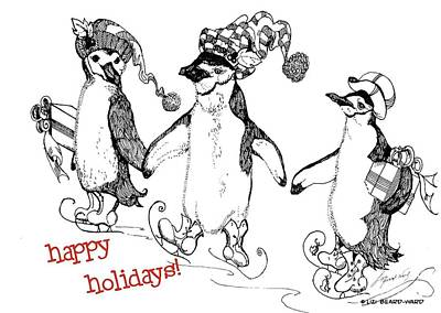 Drawing - Happy Holidays by Lizi Beard-Ward