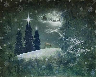 Digital Art - Happy Holidays by Marie  Gale