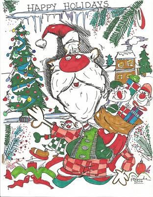 Happy Holidays Original by Philip Blanche