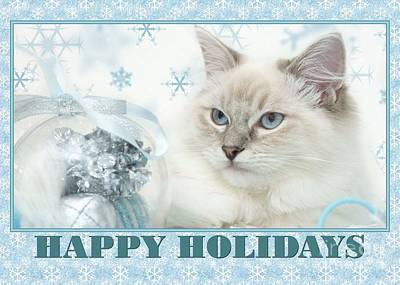 Digital Art - Happy Holidays Precious Kitty by JH Designs