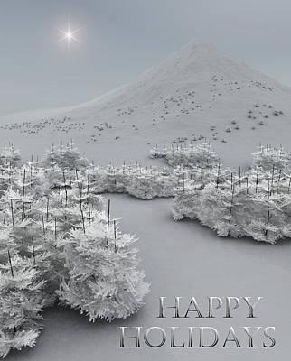 Happy Holidays Art Print by Richard Rizzo
