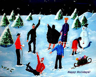 Painting - Happy Holidays by Sandy Wager