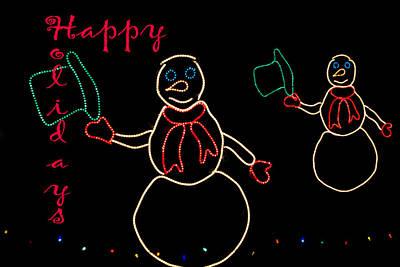 Photograph - Happy Holidays Snowmen by Deb Buchanan