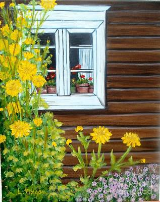 Painting - Happy Homestead by Laurie Morgan