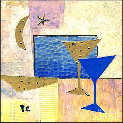 Martini Paintings - Happy Hour by Patricia Cleasby