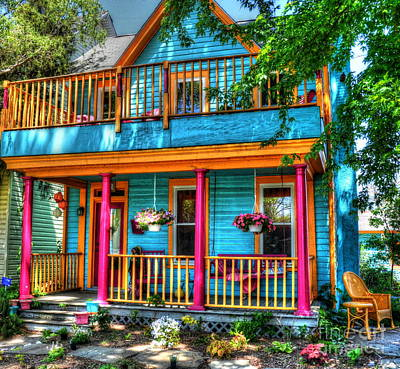 Whimsical Tree Photograph - Happy House by Debbi Granruth