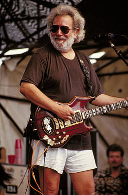 Jerry Garcia Photograph - Happy Jerry Garcia by Stephen Miner