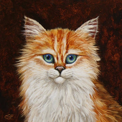Happy Kitty Art Print by Crista Forest