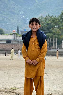Art Print featuring the photograph Happy Laughing Pathan Boy In Swat Valley Pakistan by Imran Ahmed