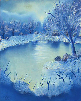 Bob Ross Painting - Happy Little Winterscape by Ben Pogge