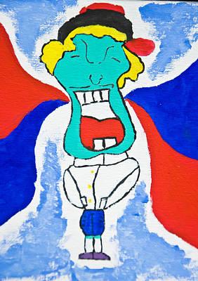 Artist Working Photograph - Happy Man  by Charoen  Dokkularb