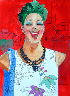 Manikins Painting - Happy Manikin by Suzy Pal Powell