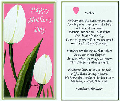 Declaration Of Love Painting - Happy Mother's Day by Barbara Griffin