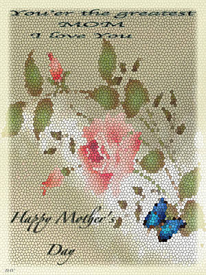 Happy Mothers Day Card Art Print by Debra     Vatalaro