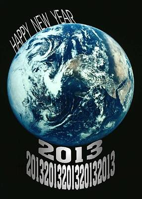 Digital Art - Happy New Year 2013 B by Mimo Krouzian