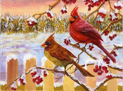 Art Print featuring the painting Happy New Year 2014 by Ping Yan