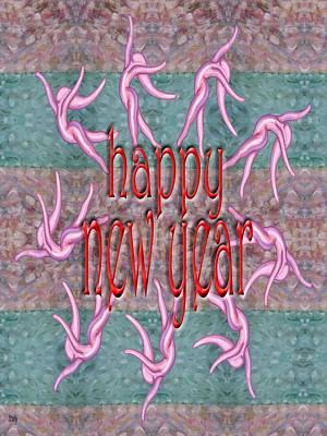Happy New Year Mixed Media - Happy New Year 99 by Patrick J Murphy