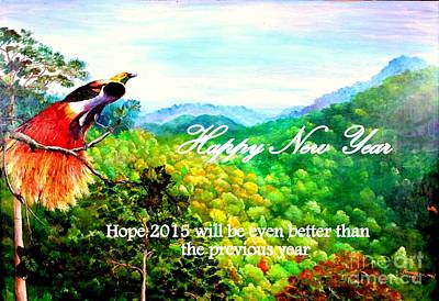 Mangrove Forest Painting - Happy New Year by Jason Sentuf