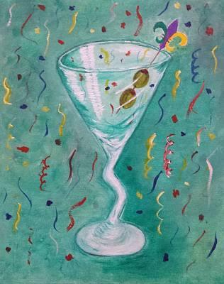 Martini Paintings - Happy New Year by Judy Jones