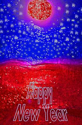 Digital Art - Happy New Year by Mimo Krouzian