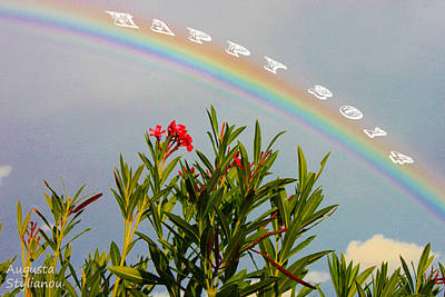 Colourfull Photograph - Happy New Year Rainbow by Augusta Stylianou