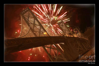 Photograph - Happy New Year San Francisco Bay Bridge by Blake Richards