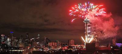 Photograph - Happy New Year Seattle by Benjamin Yeager