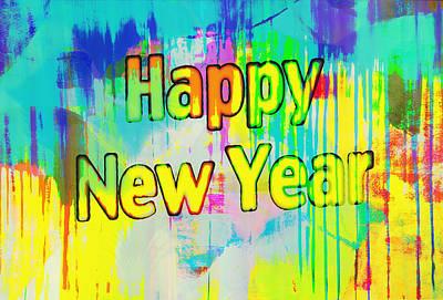 Digital Art - Happy New Year by Susan Stone