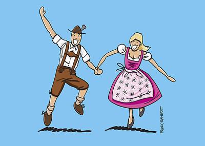 Bayern Digital Art - Happy Oktoberfest Lovers by Frank Ramspott