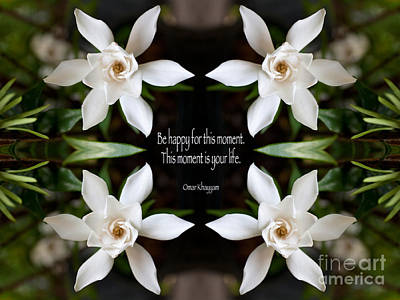Omar Khayyam Photograph - Happy - Omar Khayyam Quote  by Susan Bloom