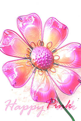 Happy Pink Flower Original