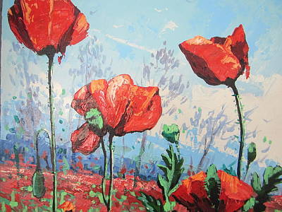 Painting - Happy Poppies  by Andrei Attila Mezei