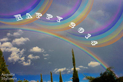Colourfull Photograph - Happy Rainbows by Augusta Stylianou