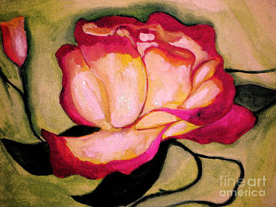 Painting - Happy Red Rose by Sidney Holmes