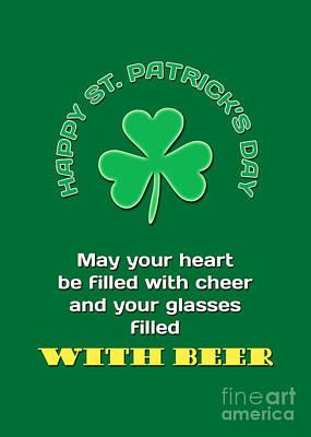 Digital Art - Happy Saint Patrick's Day by Gabriele Pomykaj
