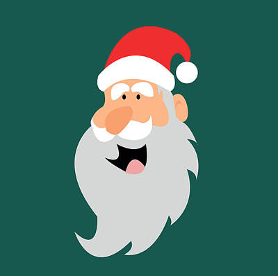 Happy Santa Art Print by Kenneth Feliciano
