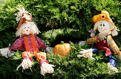 Photograph - Happy Scarecrows by Living Color Photography Lorraine Lynch