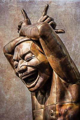 Happy Sculpture Art Print