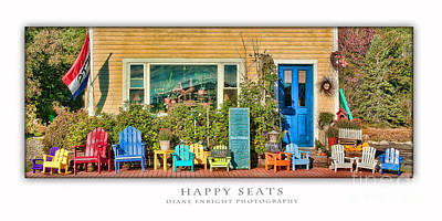 Photograph - Happy Seats by Diane Enright