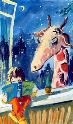 Painting - Happy Simon by NatikArt Creations