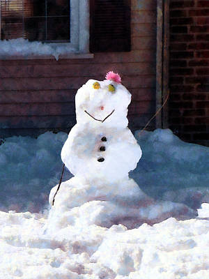 Photograph - Happy Snowman by Susan Savad