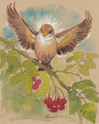 Happy Sparrow Number Four Art Print