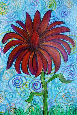 Happy Spring Flower Art Print by Jacqueline Athmann