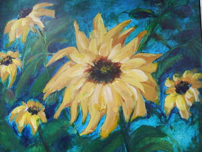 Painting - Happy Spring by Janet Visser